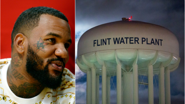 Rapper The Game and The Flint Water Plant (Getty Images