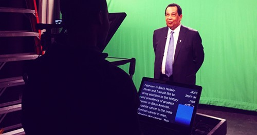 PHEN president and founder, Thomas A. Farrington records PSAs for Black History Month