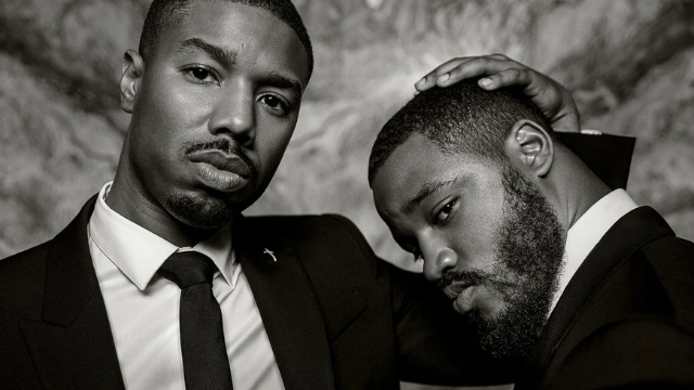 Actor Michael B. Jordan and director Ryan Coogler pose for Vanity Fair shoot. (Vanity Fair)