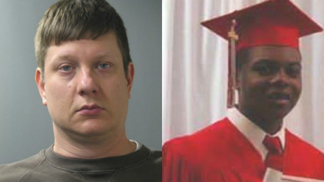 Jason Van Dyke (L) and Laquan McDonald (WGN Screenshots)