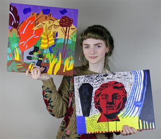 Photo: MHSA student Lilian Solheim, who won both gold and silver medals in painting