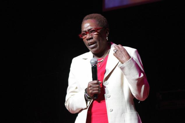 Afeni Shakur speaks onstage at Tupac's 40th Birthday Celebration at the Atlanta Symphony Hall on June 16, 2011.