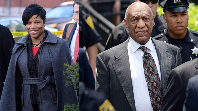 Monique Pressley (Photo by William Thomas Cain/Getty Images) | Bill Cosby (Photo by William Thomas Cain/Getty Images)