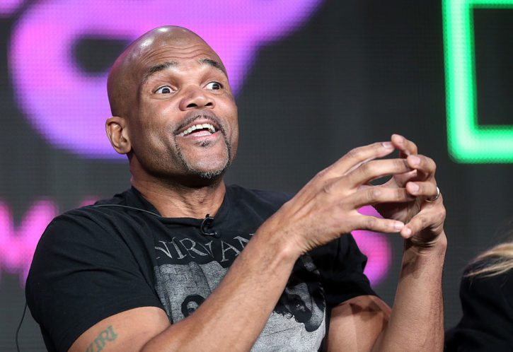 "PASADENA, CA - JANUARY 04:  Darryl McDaniels of Run DMC speaks onstage during ""The 80's the decade that made us"" panel discussion at the National Geographic Channels portion of the 2013 Winter TCA Tourduring 2013 Winter TCA Tour - Day 1 at Langham Hotel on January 4, 2013 in Pasadena, California.  (Photo by Frederick M. Brown/Getty Images)"