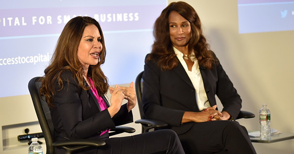 TV Producer Nely Gal and Super Model Beverly Johnson promote minority small businesses. Photo Credit: Ashleigh A.M. Bing