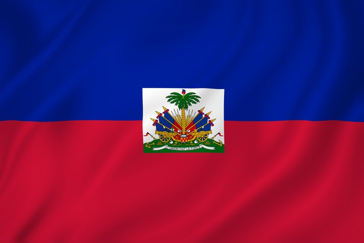 Haiti coast national flag background texture.