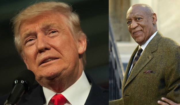 Donald Trump (Photo by Jeff Swensen/Getty Images) | Bill Cosby (Photo by William Thomas Cain/Getty Images)