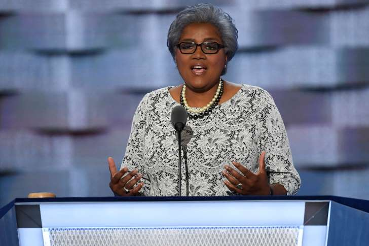 Robert Deutsch, USA TODAY Donna Brazile speaks during the 2016 Democratic National Convention in Philadelphia.