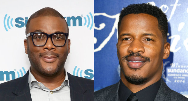 Getty  Tyler Perry and Nate Parker, black filmmakers.