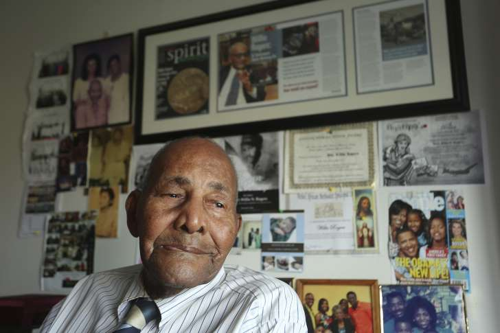 Scott Keeler/The Tampa Bay Times/AP In a Feb 23, 2015 photo, Willie Rogers, 99, reflects on his service and his life at home in St. Petersburg, Fla. Rogers, the oldest surviving member of the original Tuskegee Airmen, died Friday, Nov. 18, 2016