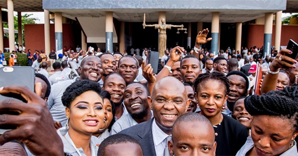 Billionaire Tony Elumelu with other African and African-American entrepreneurs