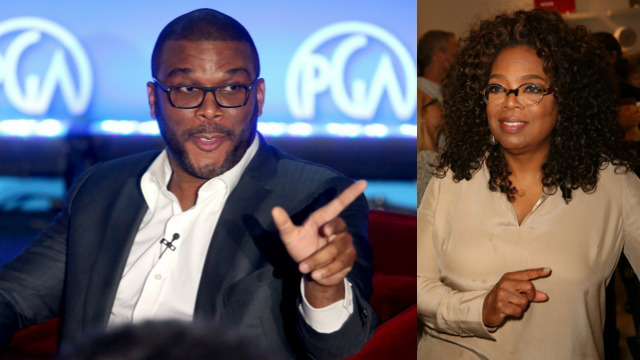 Tyler Perry (Photo by Frederick M. Brown/Getty Images) | Oprah Winfery (Photo by Ari Perilstein/Getty Images for Laird Apparel LLC)