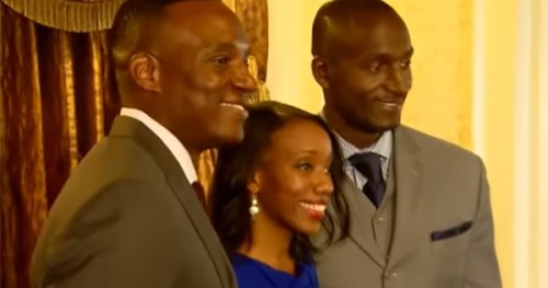 "(left to right) former contestants on ""The Apprentice"" – Kwame Jackson, Tara Dowdell and Randal Pinkett"