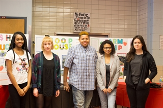 Students at MHSA's winter health fair