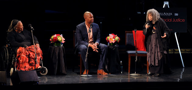 NEW YORK, NY - JUNE 15:  Toni Morrison, Ta-Nehisi Coates and  Sonia Sanchez attend Art & Social Activism, a discussion on Broadway with Ta-Nehisi Coates, Toni Morrison and Sonia Sanchez on June 15, 2016 in New York City.  (Photo by Craig Barritt/Getty Images for The Stella Adler Studio of Acting)