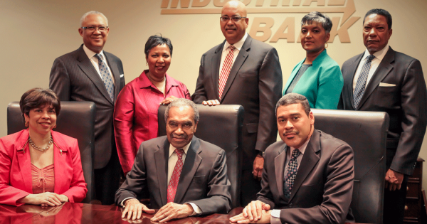 Executives at Industrial Bank, a Black-owned bank in Washington, DC