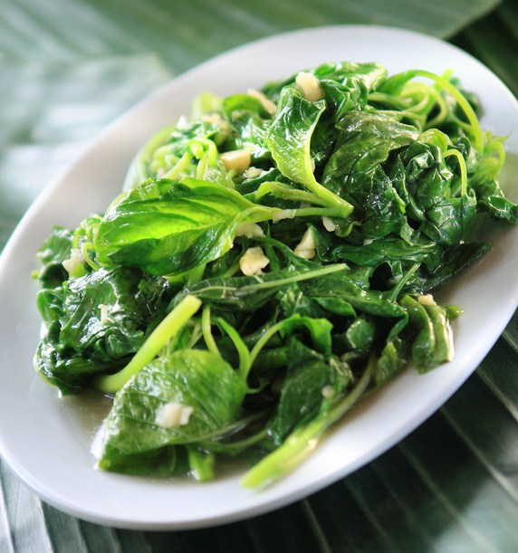 Sauteed garlic spinach