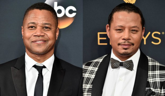 Cuba Gooding Jr. (left) and Terrence Howard (right) attend the 68th Annual Primetime Emmy Awards. (Photos: Alberto E. Rodriguez/Getty Images)