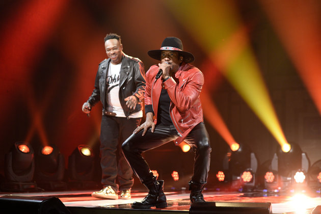 "SATURDAY NIGHT LIVE -- ""Dave Chappelle"" Episode 1710 -- Pictured: (l-r) Jarobi White and Q-Tip of musical guest A Tribe Called Quest perform on November 12, 2016 -- (Photo by: Will Heath/NBC/NBCU Photo Bank via Getty Images)"